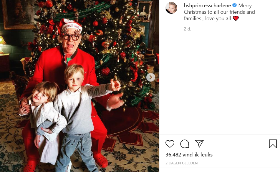 Charlene Kerst 2020 Screenshot Instagram Tweeling En Albert 1