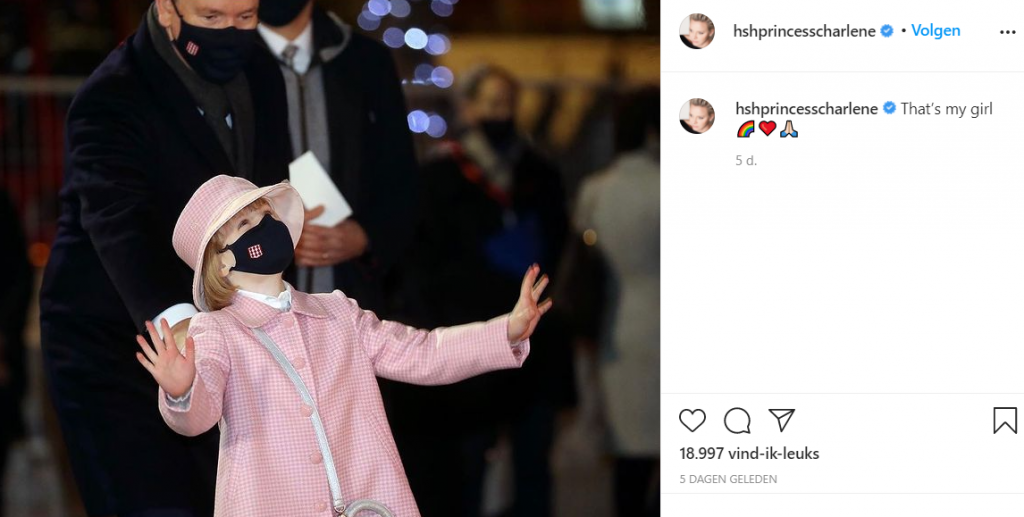 Albert En Gabriella Screenshot Instagram Charlene Januari 2021