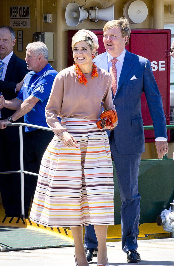 Queen Maxima And King Willem Alexander During The 4th Day Of The 5 Day Statevisit To Sydney , Austalia.