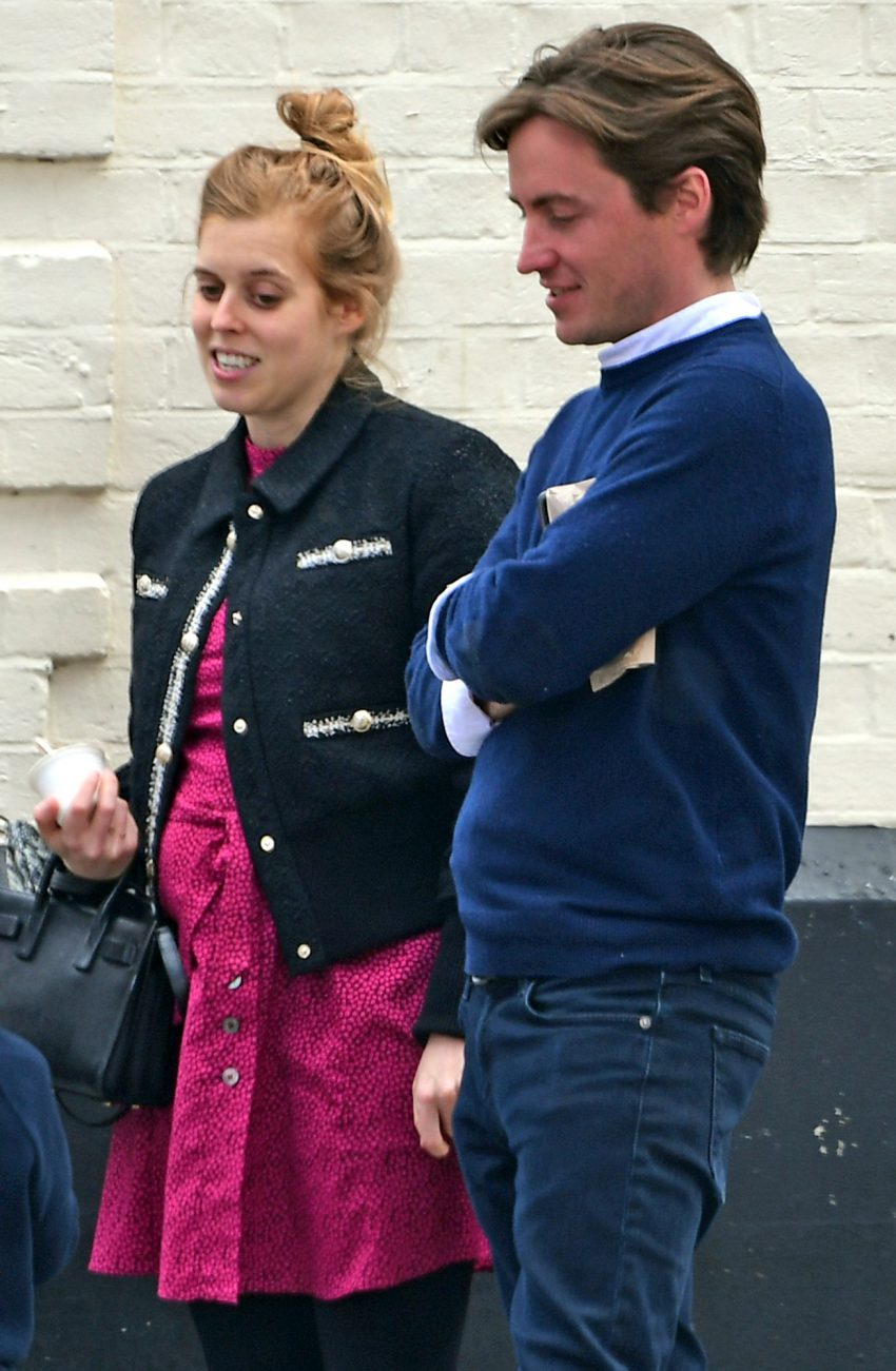 Exclusive: * Embargo: Strictly No Web Before 8pm May 20th 2021 Bst: **premium Exclusive Rates Apply**princess Beatrice Seen For The First Time Since Announcing Her Pregnancy This Morning! Beatrice Was Seen Looking Happy As She Smiled And Laughed In Chelse